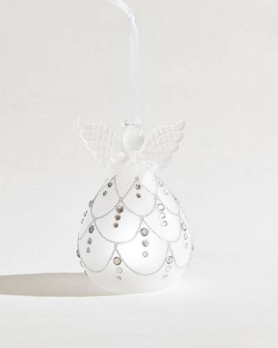 Exclusive Dots Angel Glass LED Ornament