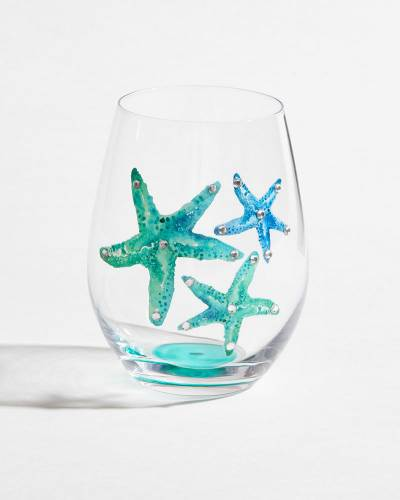 Sparkling Starfish Trio Stemless Wine Glass