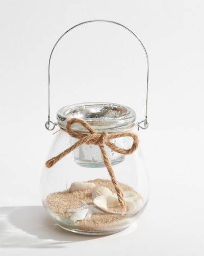Beach Sand and Shells Tea Light Candle Holder