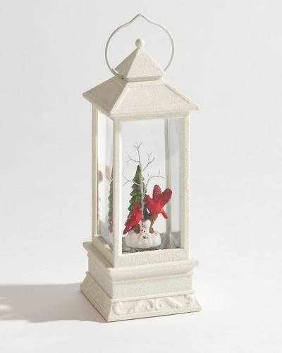 Exclusive Cardinals Holiday Glitter Lantern