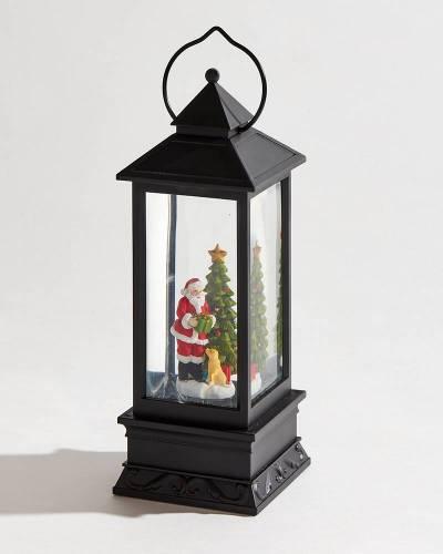 Exclusive Santa Holiday Glitter Lantern