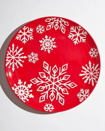 Exclusive Snowflake Plate