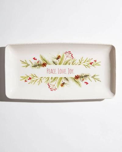 Exclusive Peace Love Joy Rectangle Platter