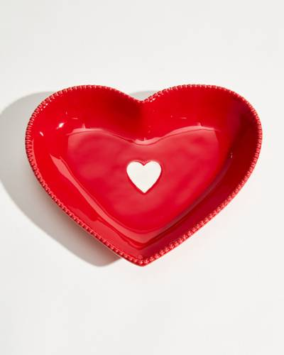Exclusive Red Heart Shaped Dish