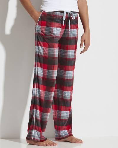 Women's Plaid PJ Pants in Red