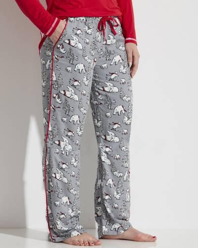 Women's Beary Merry PJ Pants in Grey