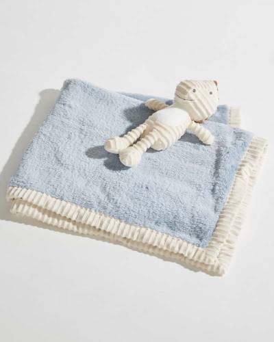 2-Piece Velboa Dinosaur Doll and Blanket Set