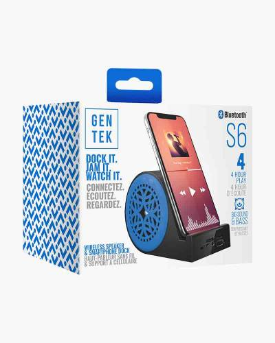 Bluetooth Speaker and Smartphone Dock in Blue