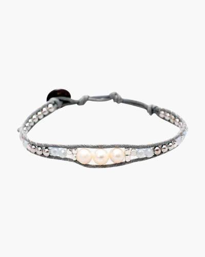 Low Tide Pearl Bead Bracelet in Grey