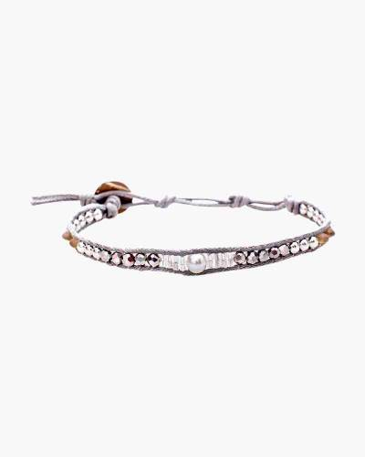 Holiday Collection Beaded Bracelet in Silver