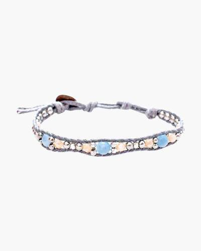 Holiday Collection Beaded Bracelet in Grey and Blue
