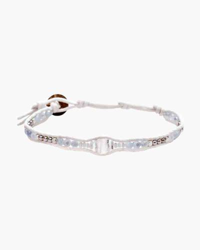 Holiday Collection Beaded Bracelet in Cream