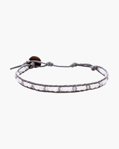 Holiday Collection Beaded Bracelet in Grey and Silver