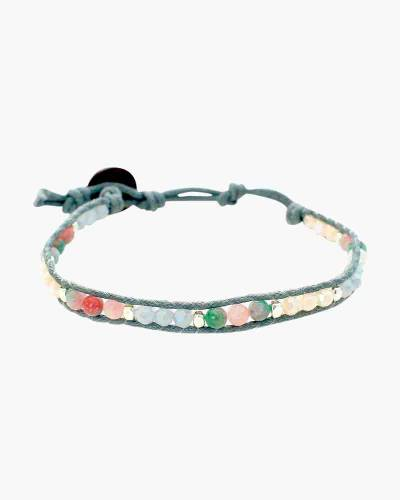 Holiday Collection Beaded Bracelet in Multi Grey