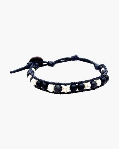 Black Howlite Beaded Bracelet