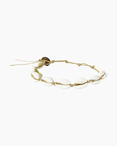 Cowrie Shell Bracelet in Hemp Cord