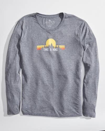 Exclusive Long Sleeve Take a Hike Grey Tee