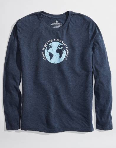 Exclusive Long Sleeve Leave it Better Navy Tee