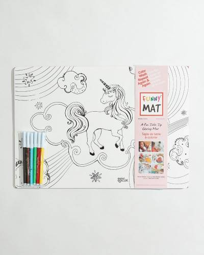 Unicorns and Mermaids Washable Coloring Mats