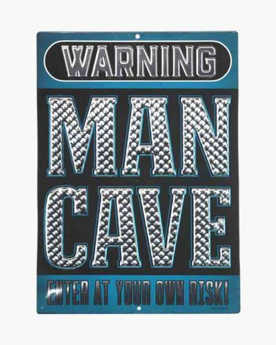 Man Cave Embossed Tin Sign
