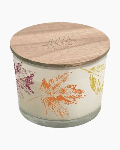 Autumn Leaves Jar Candle and Wooden Lid
