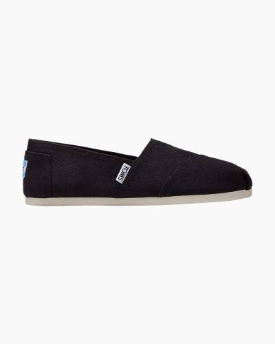 Classic Slip-On Canvas Shoes in Black
