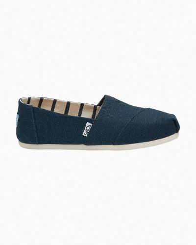 Classic Slip-On Canvas Shoes in Majolica Blue