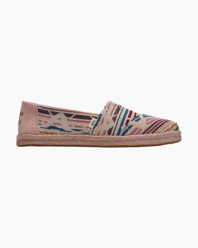 Woven Slip-On Espadrilles in Natural Multi
