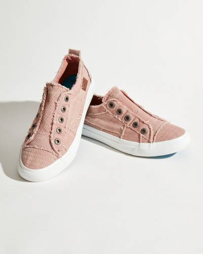 Play Sneakers in Pink Canvas