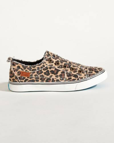 Play Sneakers in Leopard Print Canvas