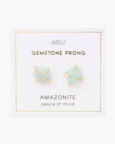 Gemstone Prong Earrings