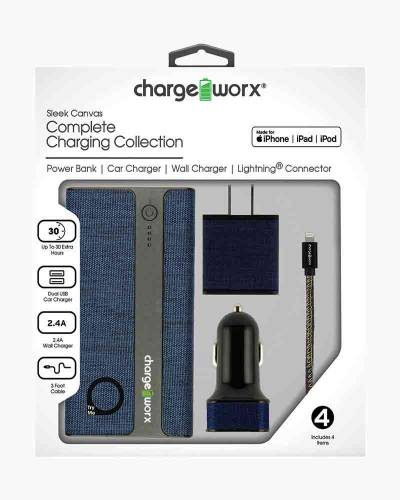 4-Piece Charging Kit with Lightning Cable for Apple