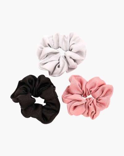 Scrunchies 3-Pack (White, Pink, Black)