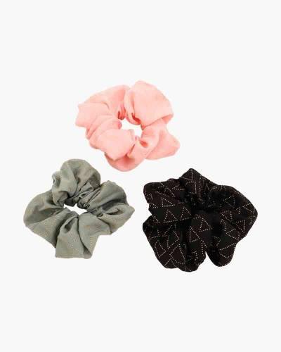 Scrunchies 3-Pack (Black, Olive, Pink)