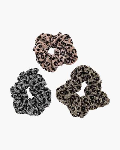 Leopard Print Scrunchies 3-Pack