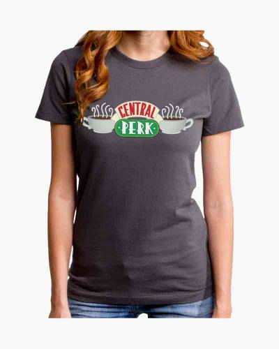 Women's Central Perk Fitted Tee in Grey