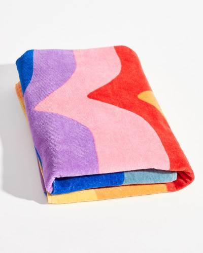 Tie Dye Rainbow Beach Towel