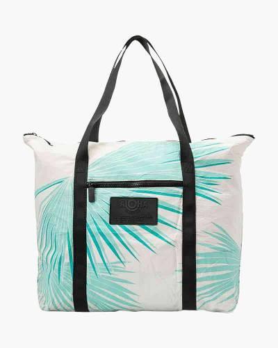Tropical Fan Palms Zipper Tote