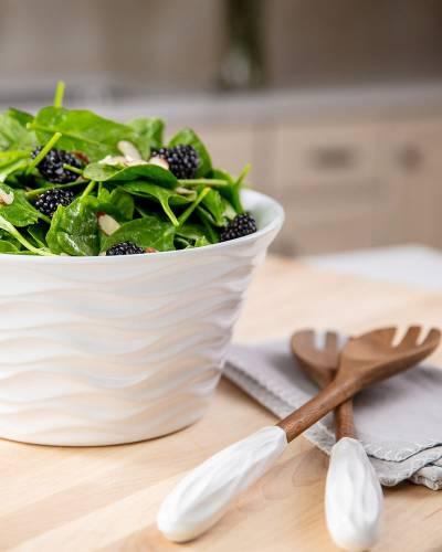 Wavelength Bowl and Salad Servers Set (3 qt.)