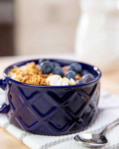Seal the Meal Soup Mug in Blue
