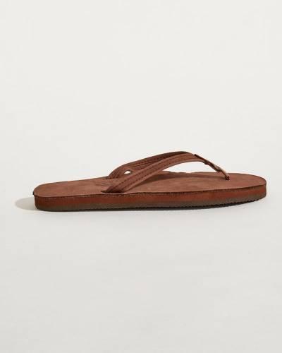 Women's Madison Leather Sandals in Dark Brown