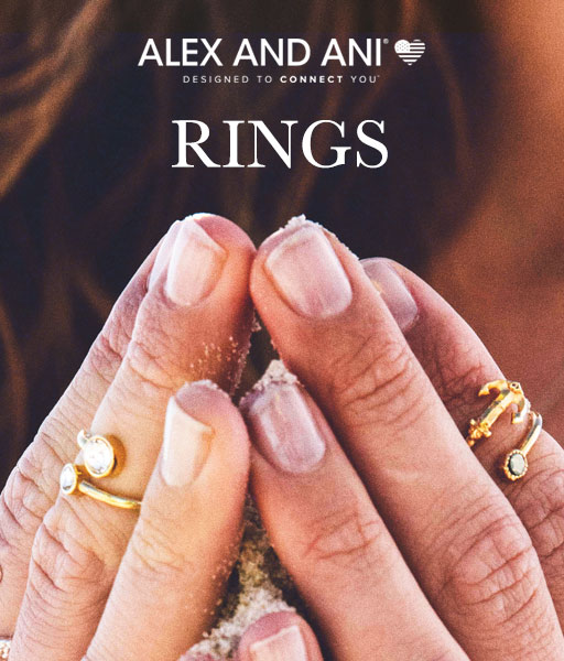 ALEX AND ANI rings