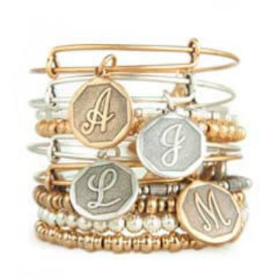 Alex and Ani Initials Collection