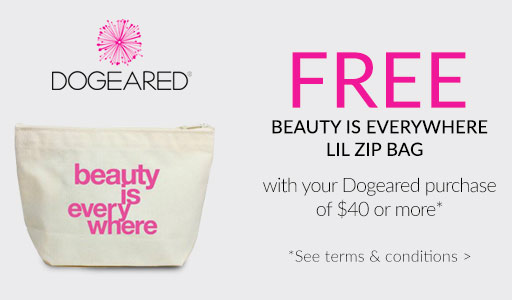 FREE lil zip cosmetic with $40 Dogeared purchase*