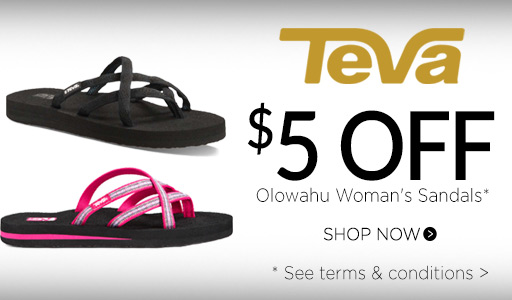 $5 off Olowahu Sandals*