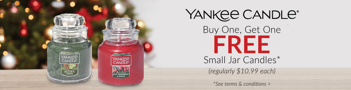 Yankee Candle - Buy 1, Get 1 FREE small jars*