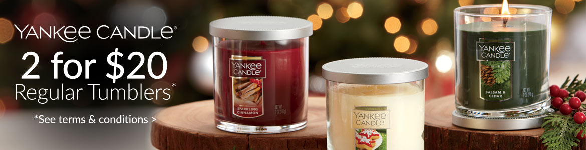 Yankee Candle - 2 for $20 tumblers*