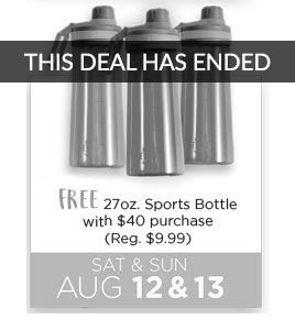 FREE 27 oz Sports Bottles with $40 purchase