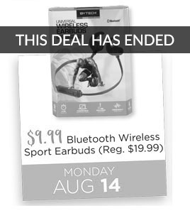 Bluetooth Wireless Sport Earbuds Special Price $9.99