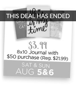 Eccolo 8x10 Journal $3.99 with $50 purchase